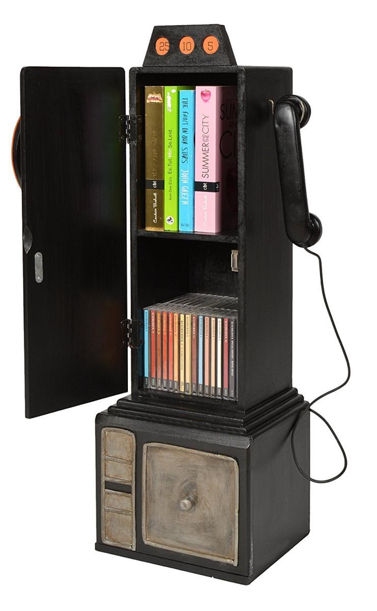 meuble range cd dvd ou livres style t l phone r tro. Black Bedroom Furniture Sets. Home Design Ideas