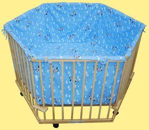 grand parc bebe hauteur r glable avec tour de lit. Black Bedroom Furniture Sets. Home Design Ideas