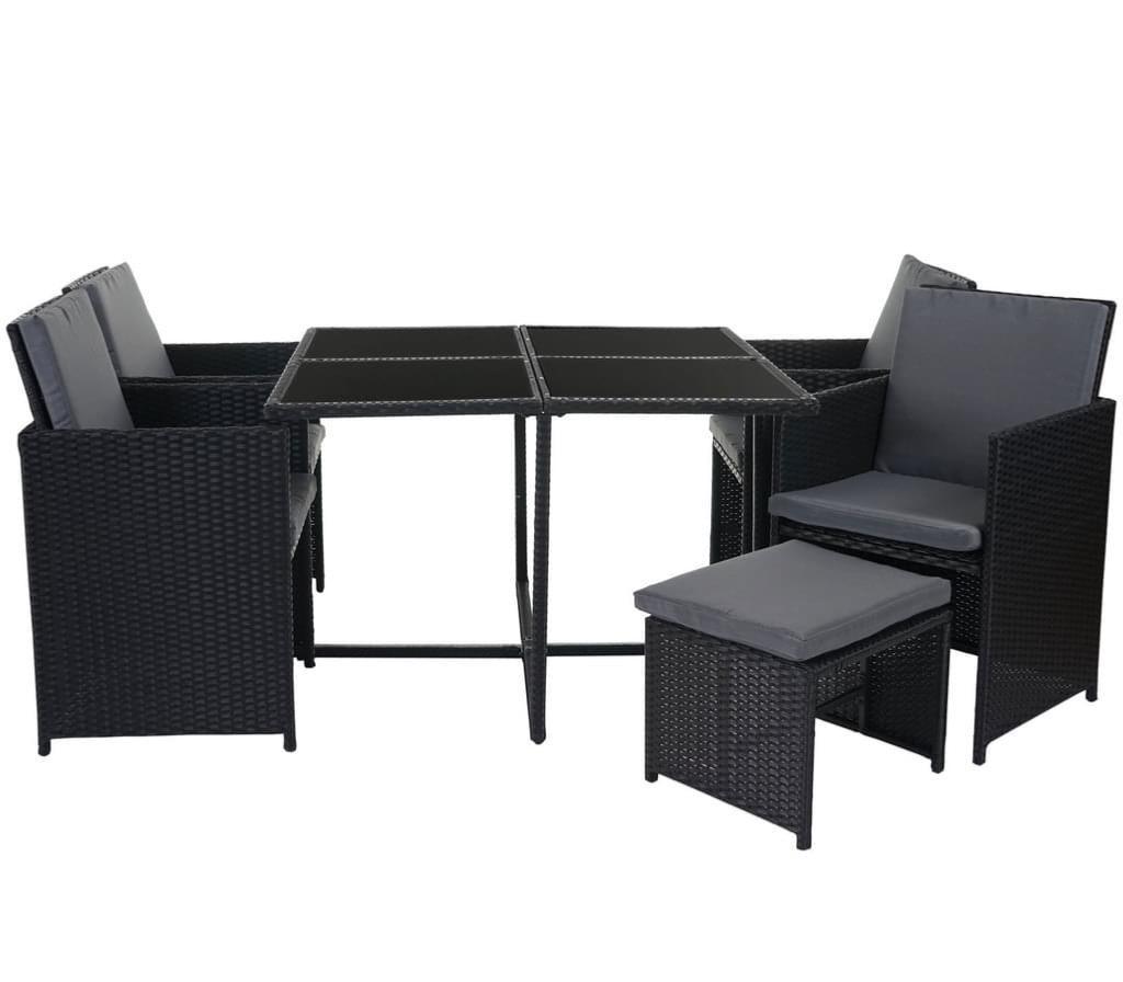 salon de jardin canap r sine tress e gris 8 10 ou 12 personnes. Black Bedroom Furniture Sets. Home Design Ideas