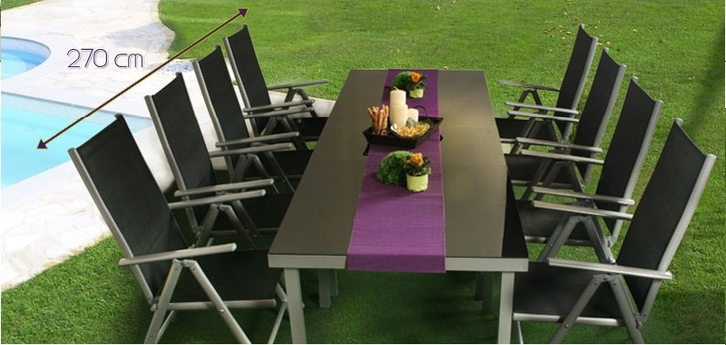 Salon de jardin alu textil ne modulable - Salon de jardin aluminium direct usine ...