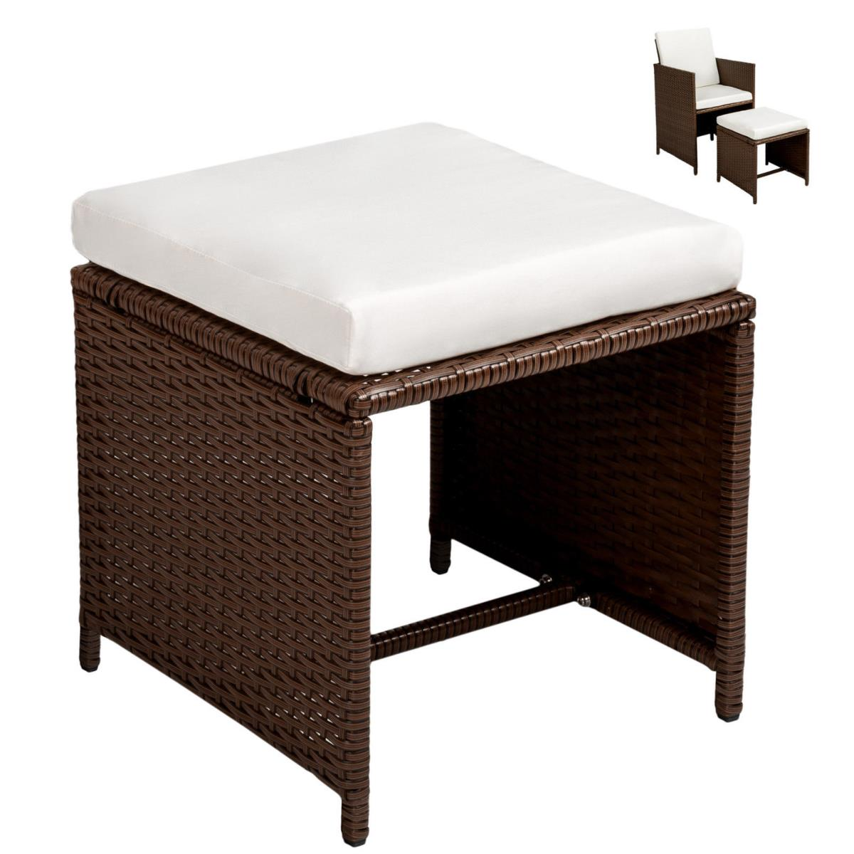 salon de jardin canap r sine tress e marron 10 personnes. Black Bedroom Furniture Sets. Home Design Ideas