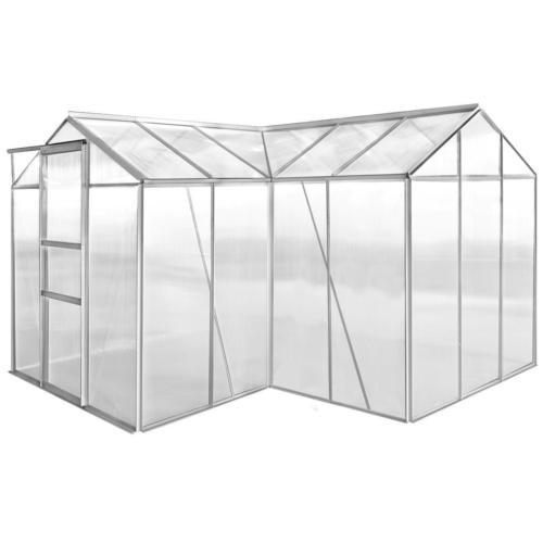 SERRE de JARDIN d\'angle en alu et polycarbonate, 8,50 m²