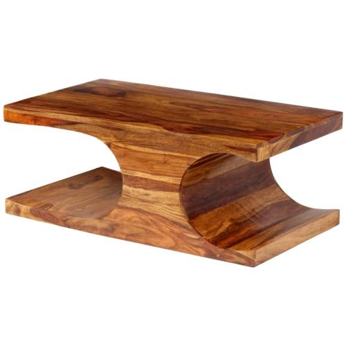 TABLE basse 90 cm, en bois massif exotique, INDIA