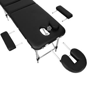 TABLE massage, aluminium, pliante, noir