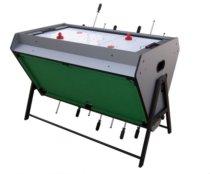 Table de jeu 3 en 1 air hockey baby foot et billard - Table multi jeux 5 en 1 ...