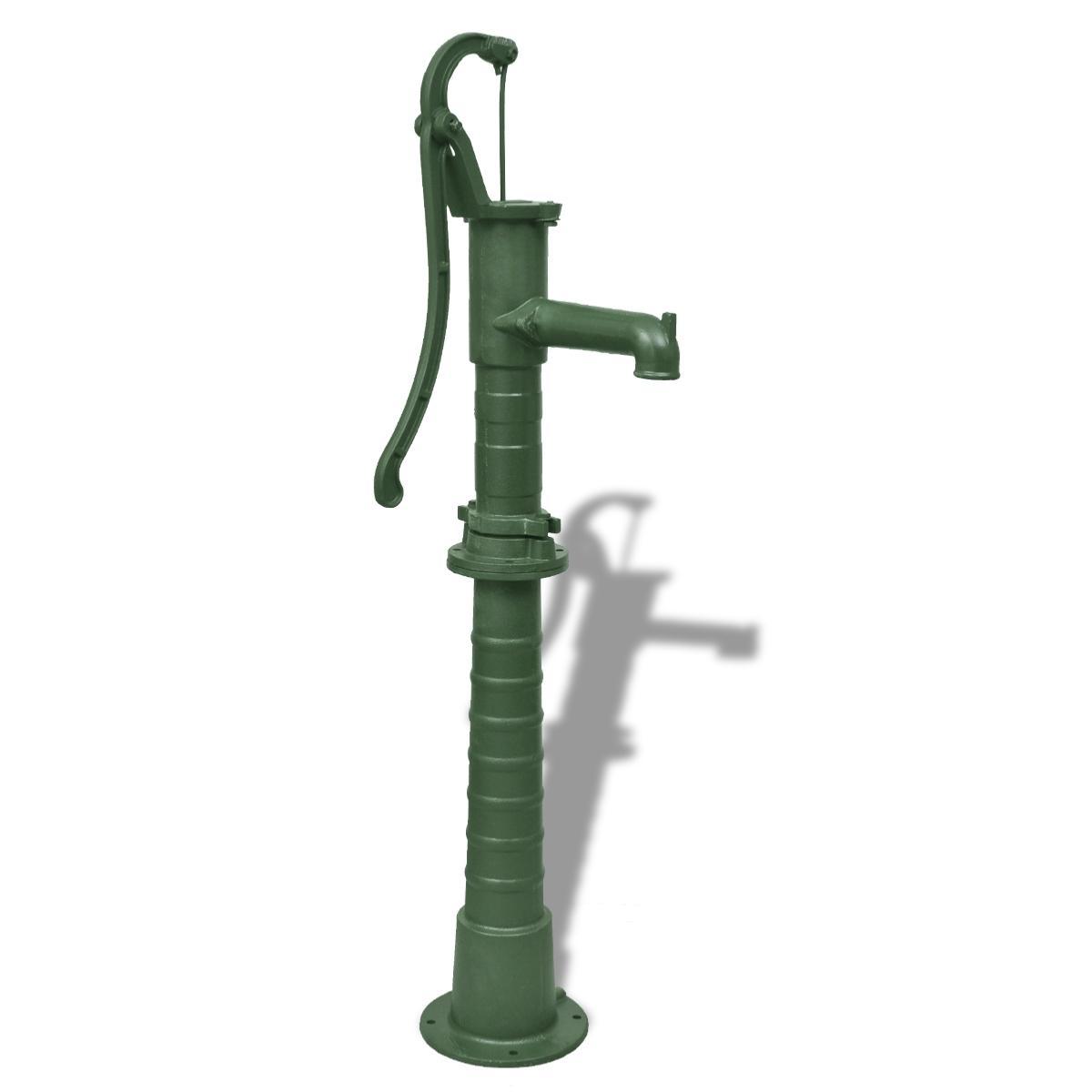 Pompe eau manuelle de jardin en fonte avec socle for Pompe a eau de jardin