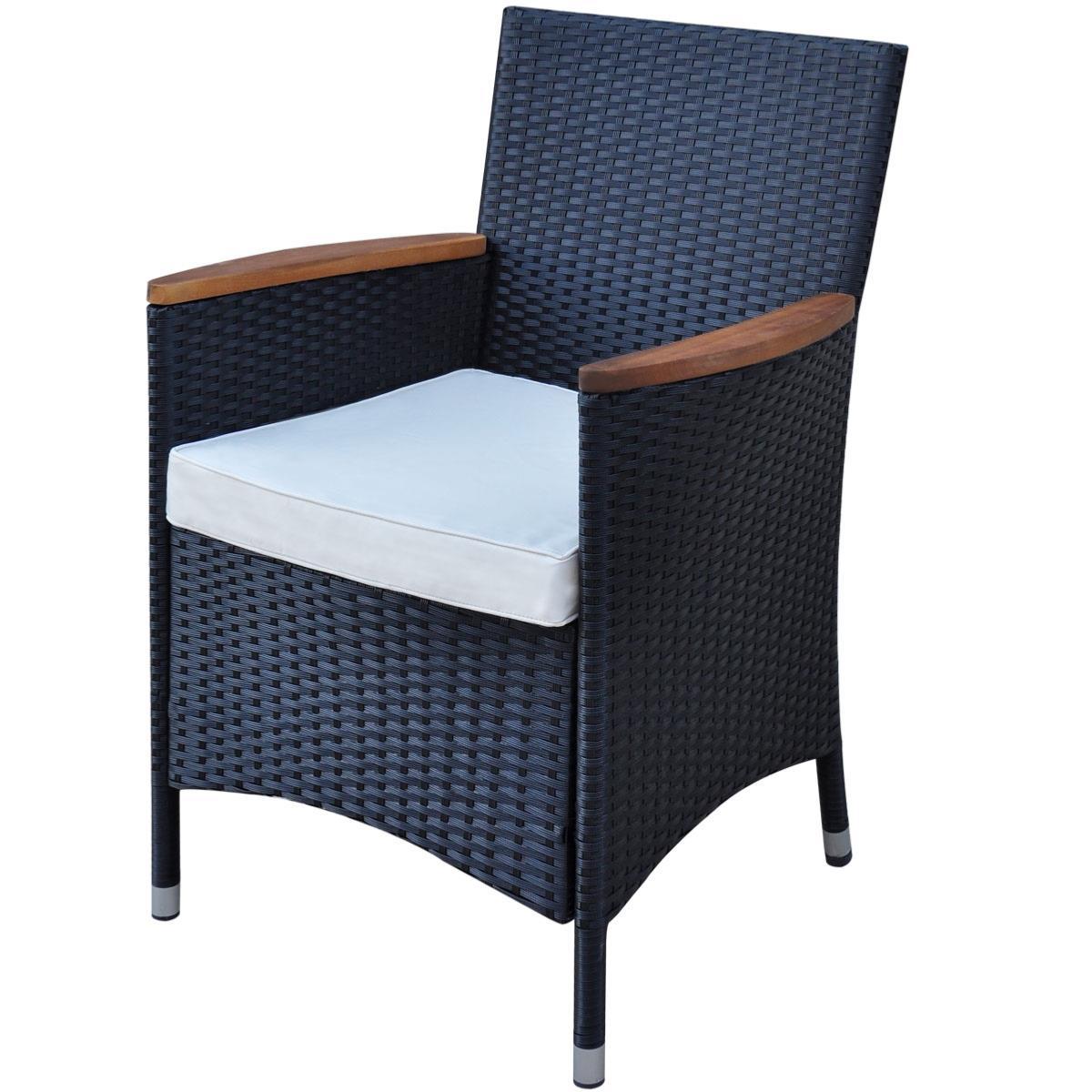 salon de jardin acacia et r sine tress e noir 12 places. Black Bedroom Furniture Sets. Home Design Ideas