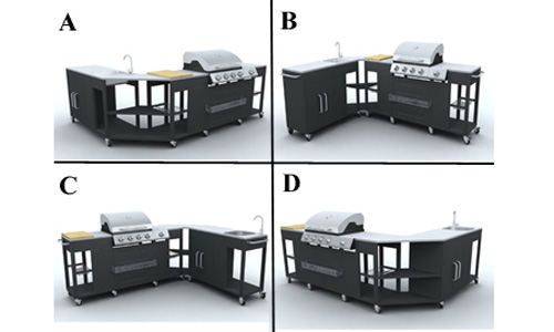 gaz inox / grand meuble cuisine exterieur