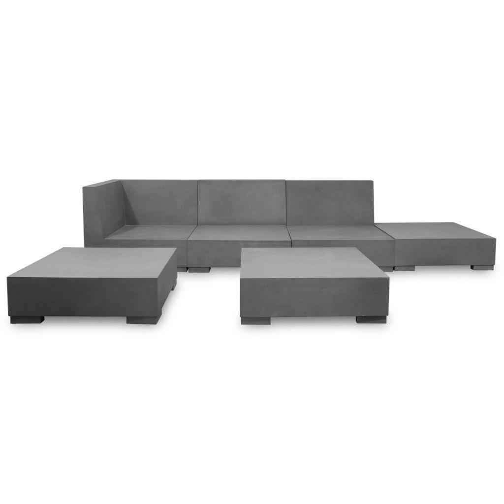 canap d 39 angle salon de jardin en b ton xl 225 x 225 cm. Black Bedroom Furniture Sets. Home Design Ideas