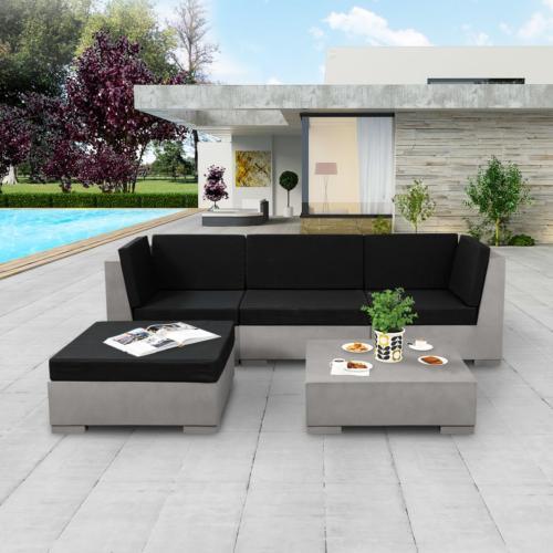 canapé, salon de jardin en béton, L, 225 cm