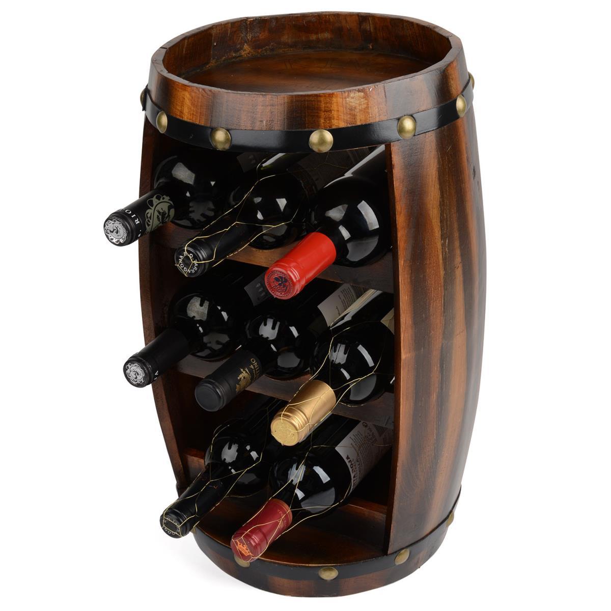 casier tonneau de luxe pour 8 bouteilles en bois massif. Black Bedroom Furniture Sets. Home Design Ideas