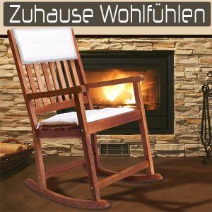 Rocking Chair de luxe en bois exotique