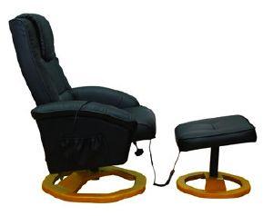 Fauteuil de massage chauffant en cuir avec repose pieds - Fauteuil masseur electrique ...