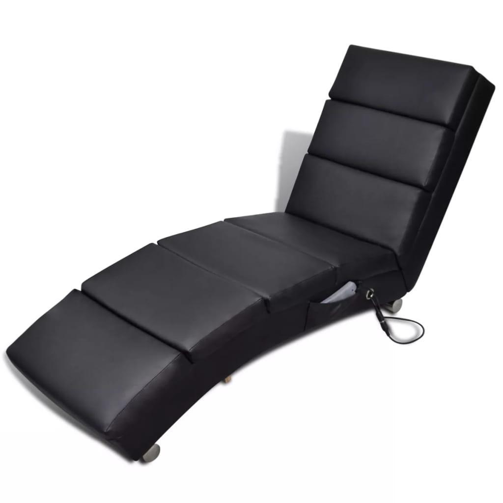fauteuil massant type chaise longue noir. Black Bedroom Furniture Sets. Home Design Ideas