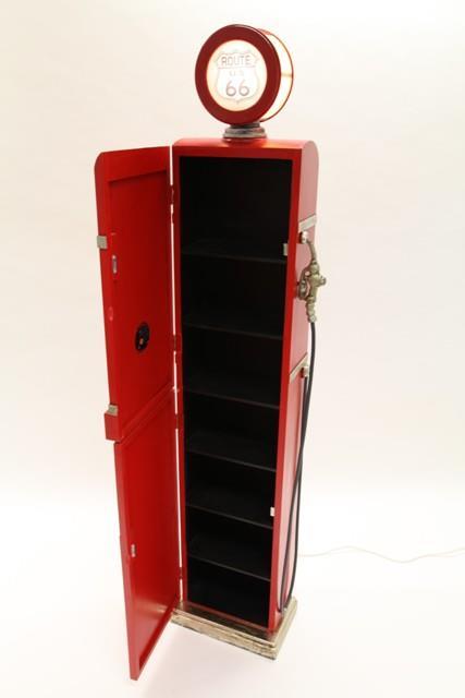 Range CD/DVD bois, 190 cm, style pompe à essence avec horloge et ...