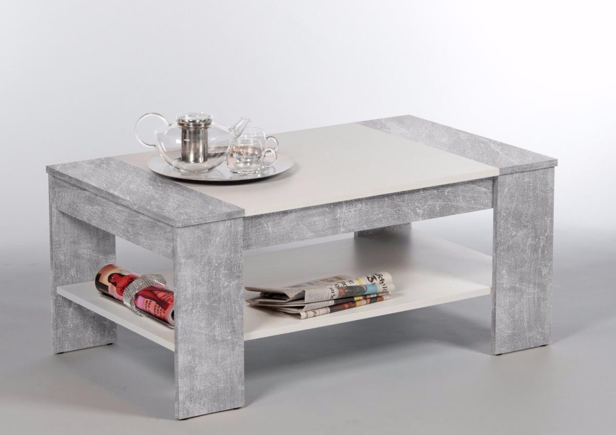 table basse en bois gris 100cm avec tiroir mod le berlin. Black Bedroom Furniture Sets. Home Design Ideas