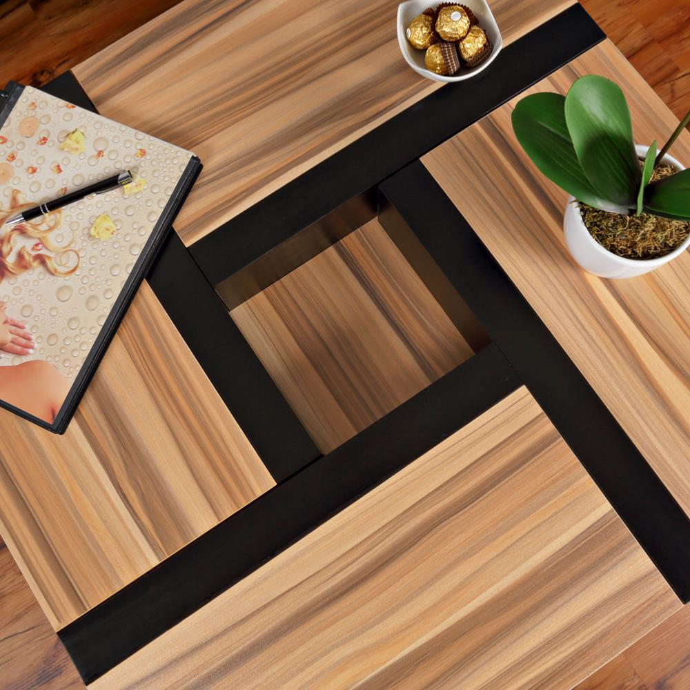 Table basse moderne mod le oregon noir brun - Modele table basse ...