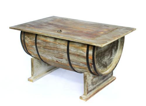 Table Basse Style Vieux Tonneau Vintage