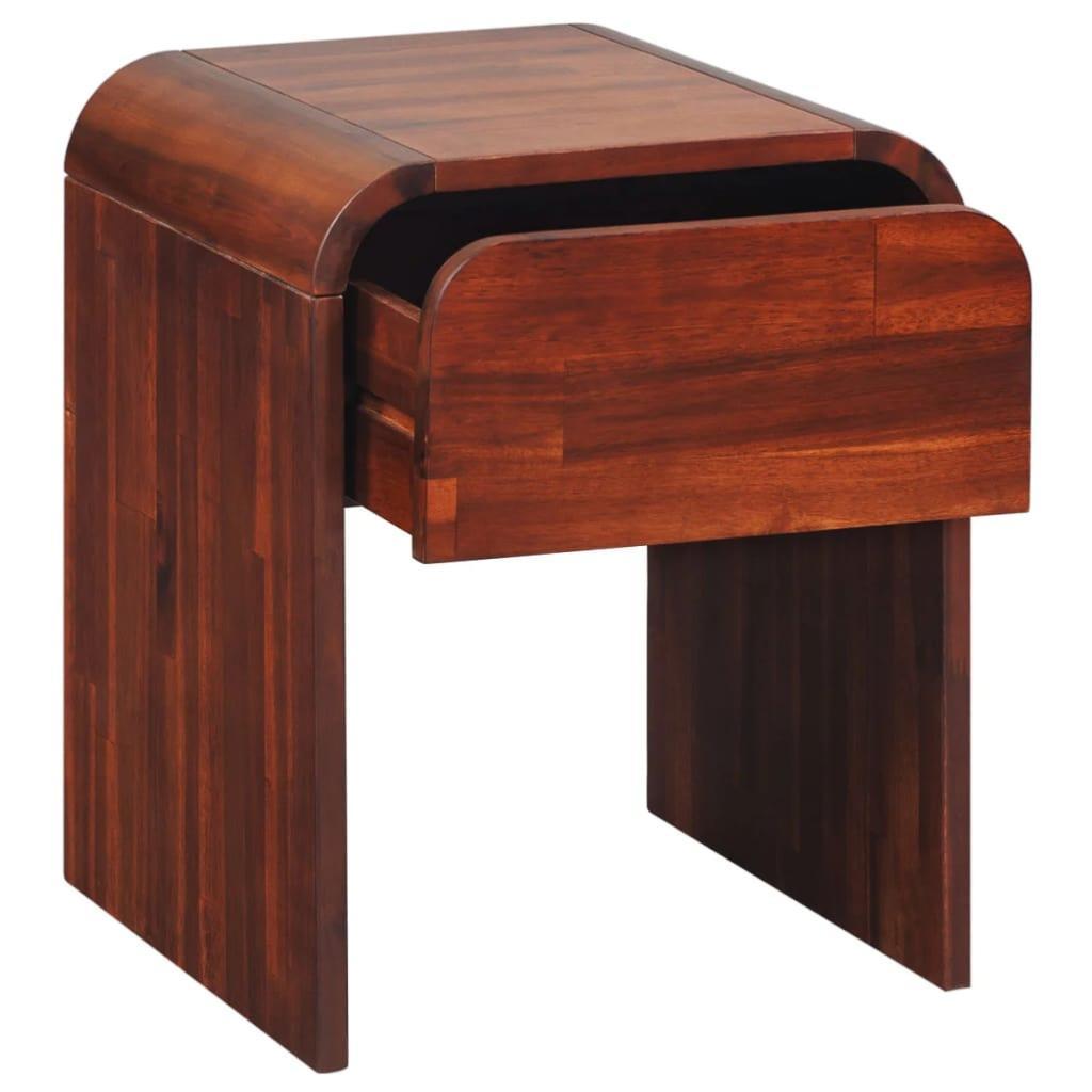 table de chevet en bois marron laqu