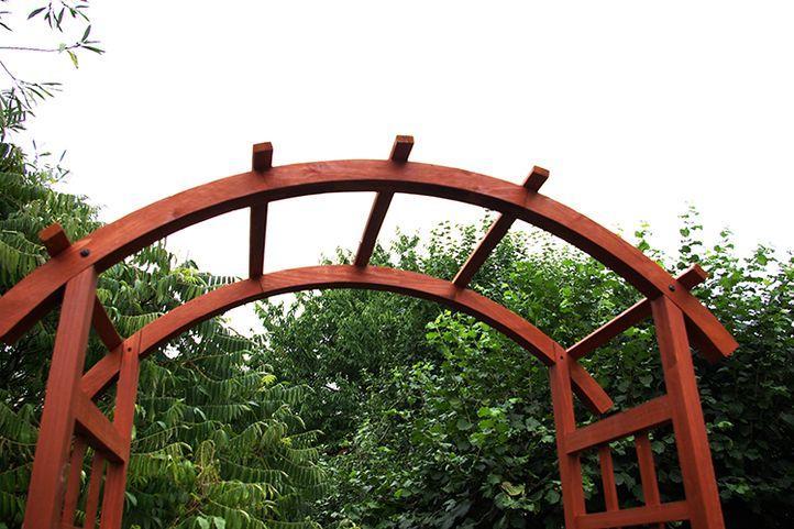 Gazebo En Bois Massif : de cercle en bois massif avec 2 bacs ? fleurs pergola en bois massif