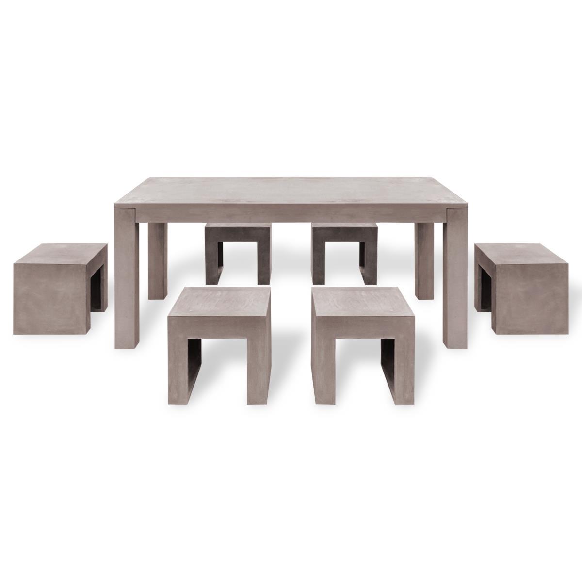 salon de jardin en beton 69101 jardin id es. Black Bedroom Furniture Sets. Home Design Ideas