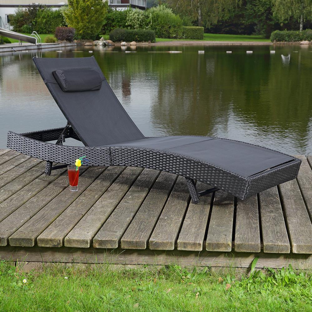 cheap lit transat de terrasse en rsine tresse noir with transat resine tressee noir. Black Bedroom Furniture Sets. Home Design Ideas