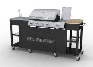 Barbecue Complet Inox Incorpore Dans Un Meuble De Cuisine