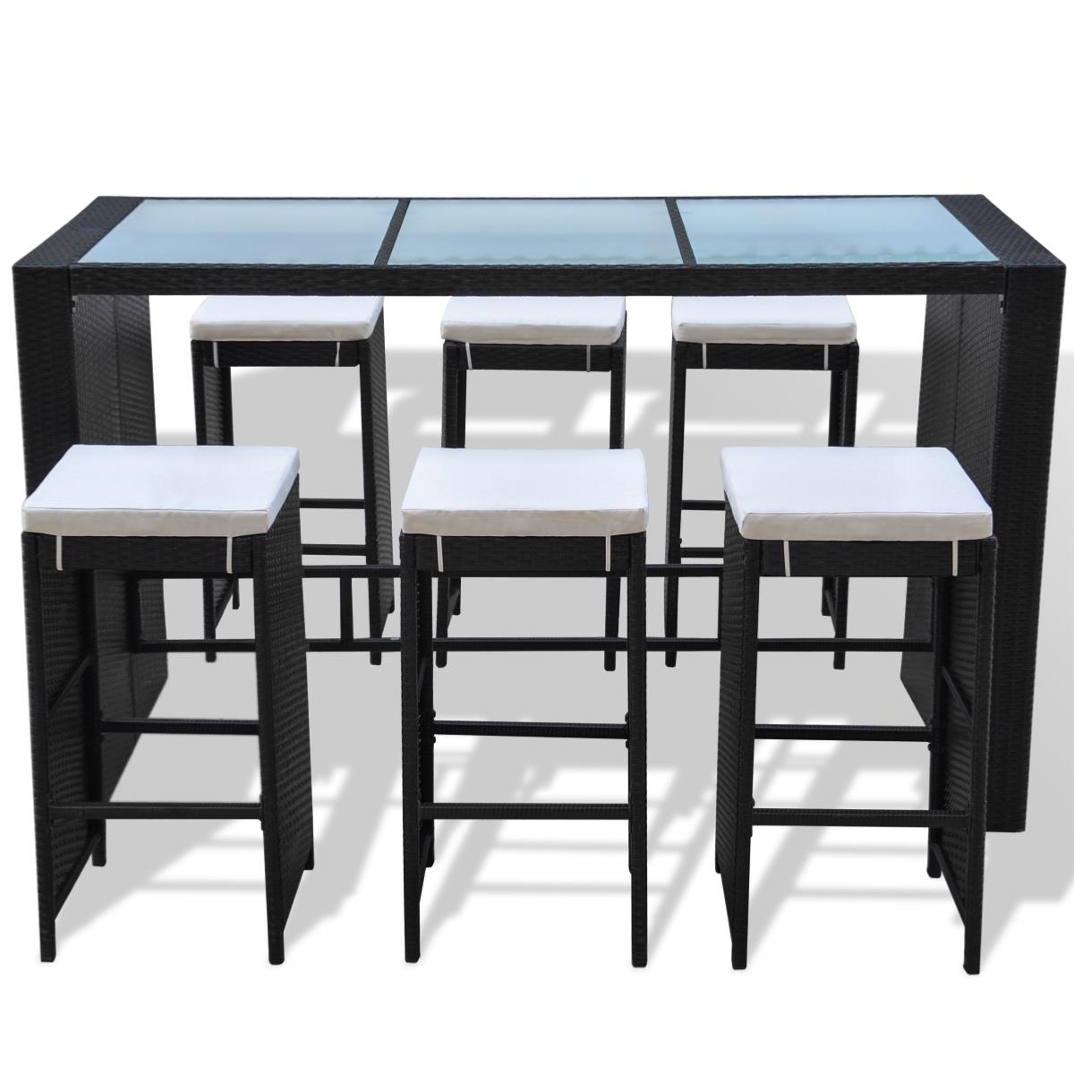 bar jardin r sine tress e noir 6 personnes mod le hawai. Black Bedroom Furniture Sets. Home Design Ideas