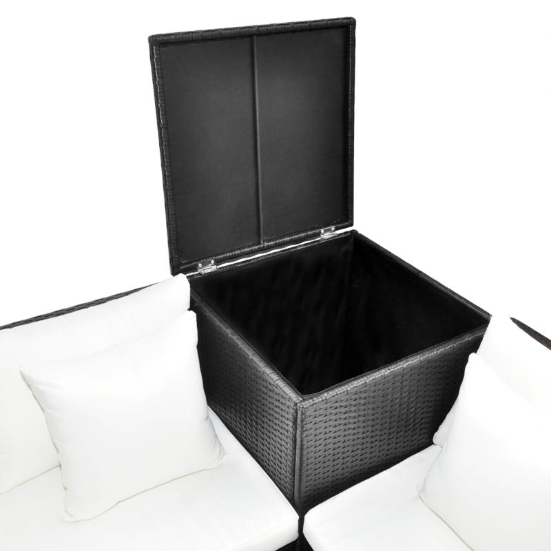 salon de jardin d 39 angle en r sine tress e 2 coloris. Black Bedroom Furniture Sets. Home Design Ideas