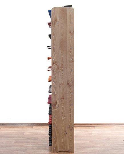 casier vin en bois massif marron pour 91 bouteilles. Black Bedroom Furniture Sets. Home Design Ideas