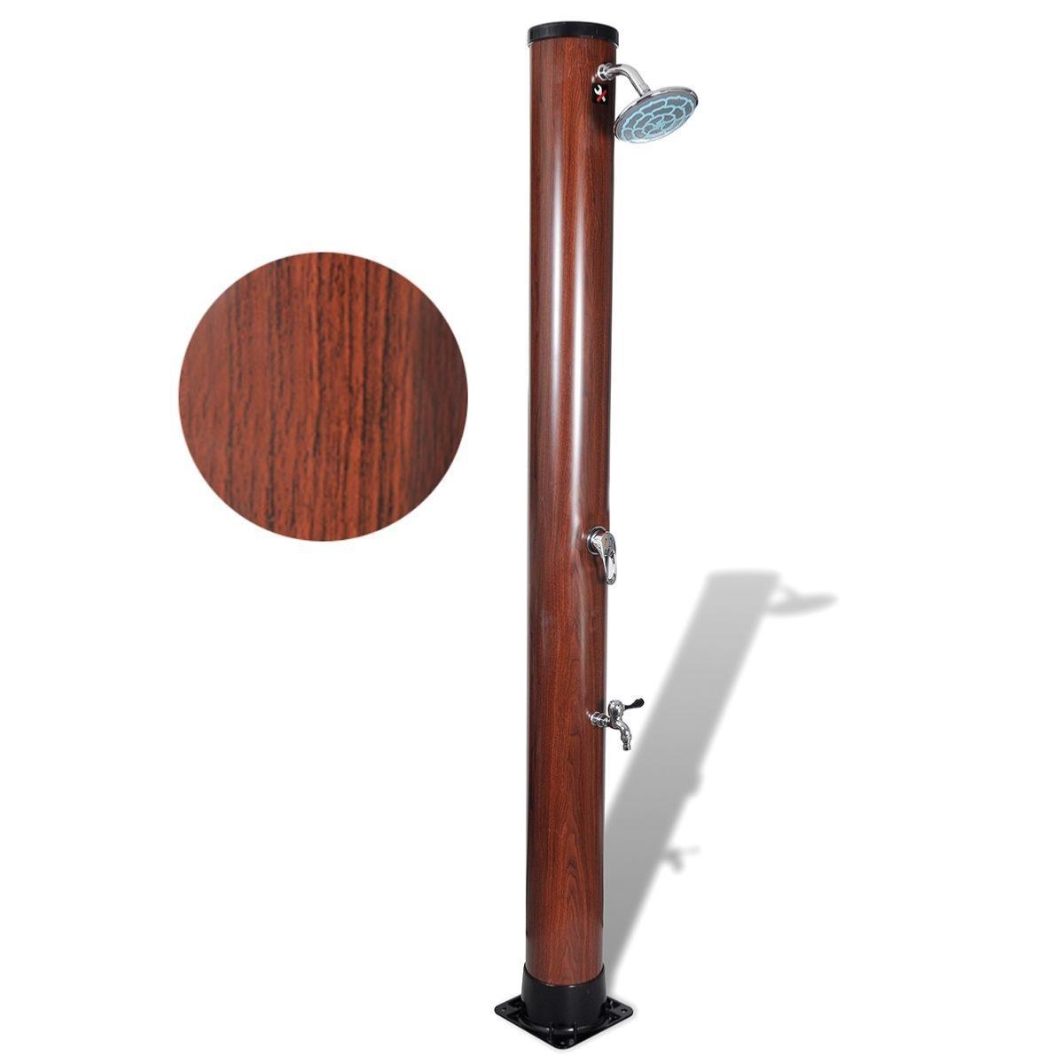 douche imitation bois solaire eau chaude ou froide. Black Bedroom Furniture Sets. Home Design Ideas