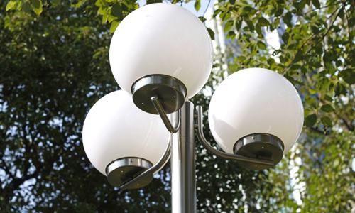 Lampadaire d 39 ext rieur en inox design moderne blanc 3 for Lampadaire jardin design
