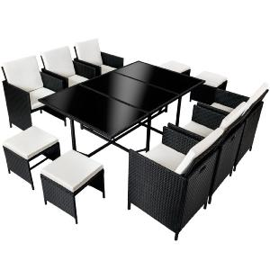 salon de jardin canap r sine tress e 10 personnes. Black Bedroom Furniture Sets. Home Design Ideas