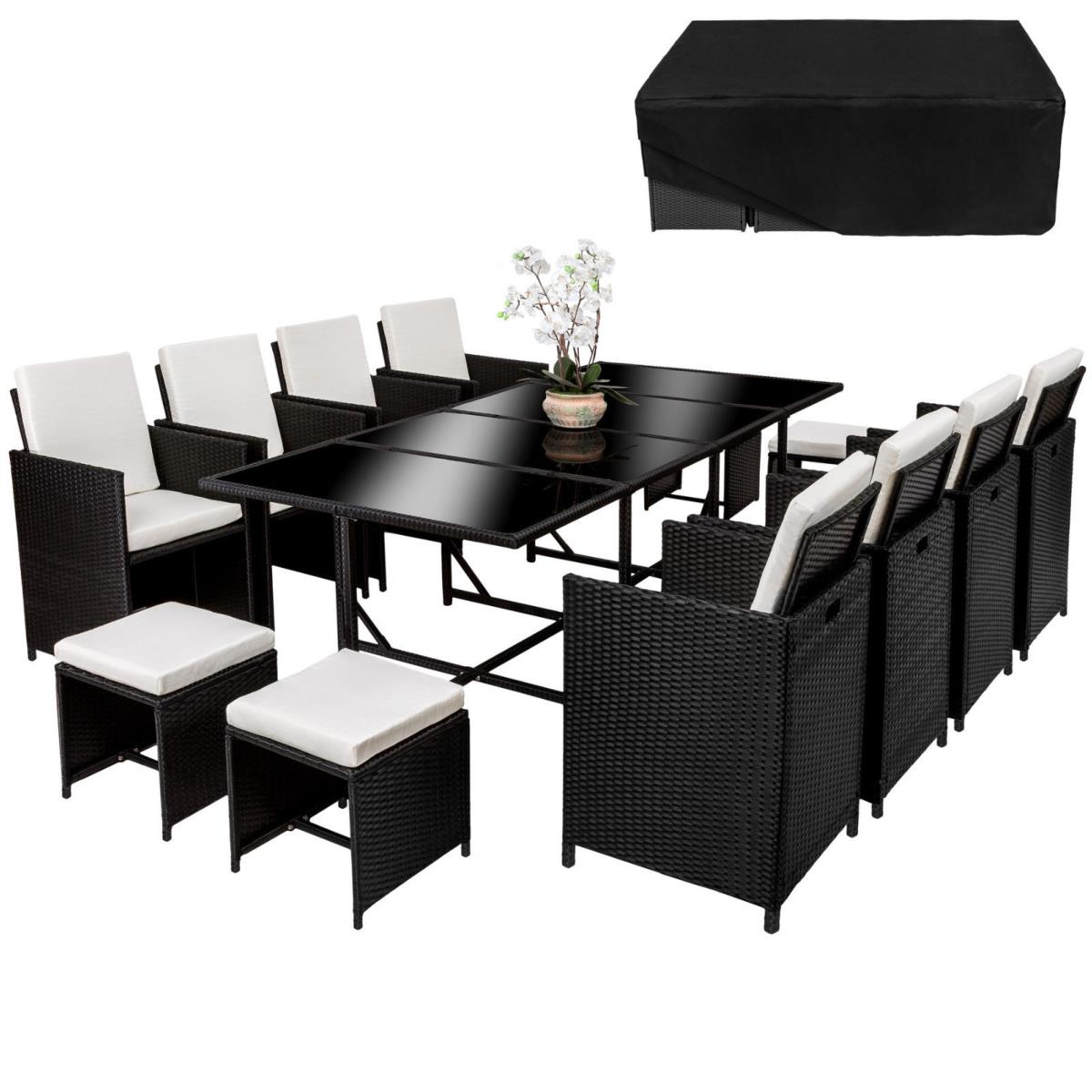 salon de jardin canap r sine tress e 12 personnes. Black Bedroom Furniture Sets. Home Design Ideas