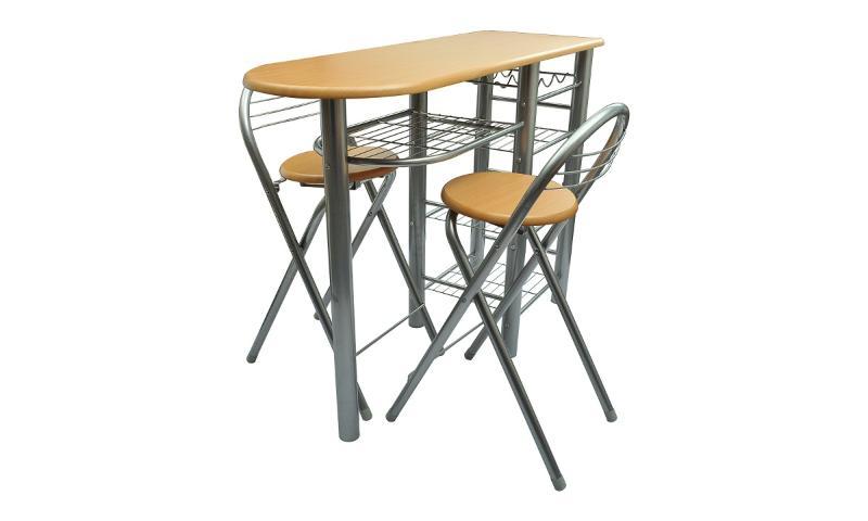 Table de bar avec 2 chaises - A quel age met on bebe dans une chaise haute ...