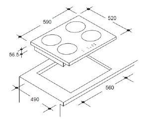Taille plaque induction table de cuisine for Taille plaque de cuisson