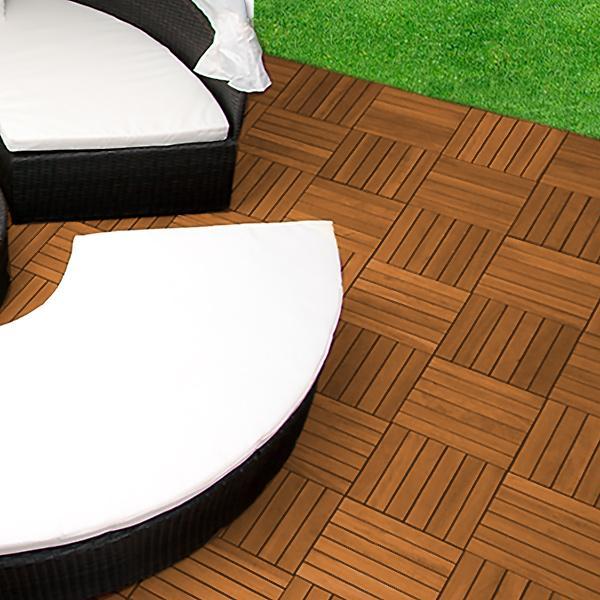 dalles 30 x 30 cm terrasse en bois exotique acacia. Black Bedroom Furniture Sets. Home Design Ideas