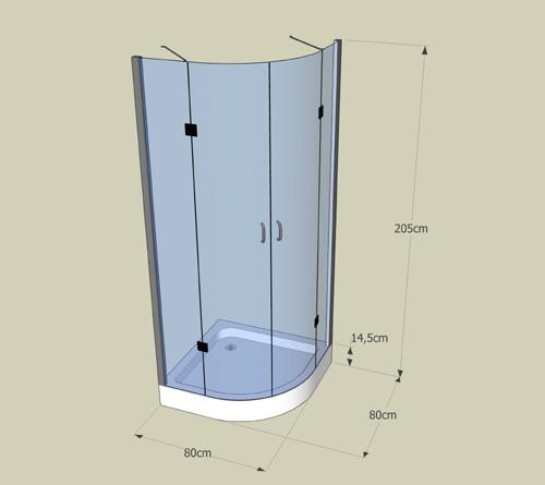 cabine de douche ronde type no frame. Black Bedroom Furniture Sets. Home Design Ideas