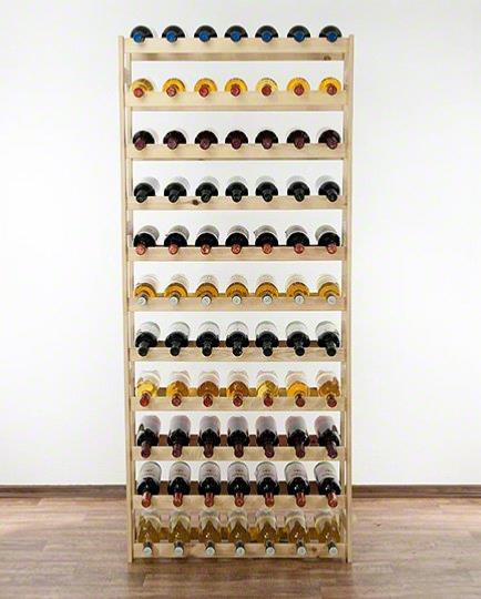 casier vin en bois massif ajour pour 77 bouteilles. Black Bedroom Furniture Sets. Home Design Ideas