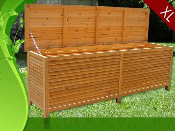 coffre de rangement en bois massif 140 cm. Black Bedroom Furniture Sets. Home Design Ideas