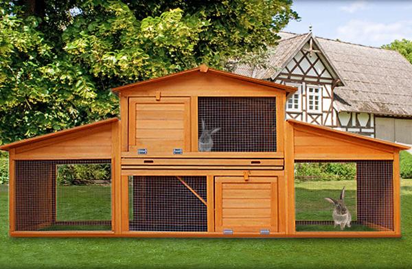 poulailler clapier grande largeur bois massif. Black Bedroom Furniture Sets. Home Design Ideas