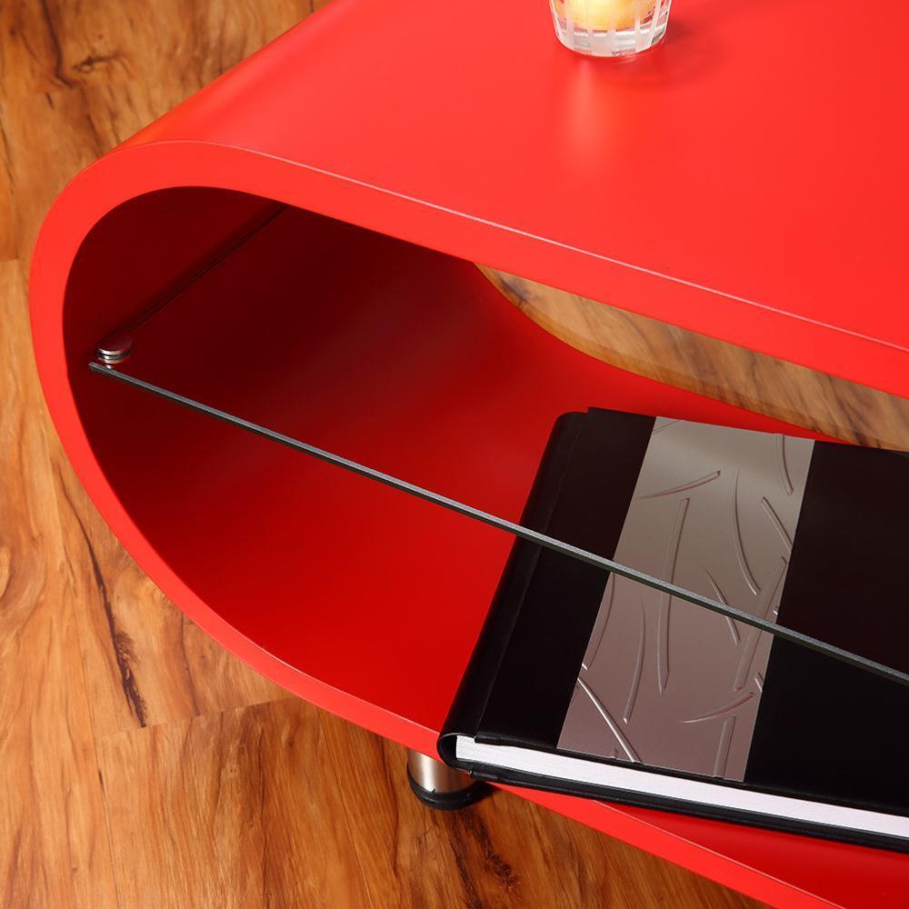 Table basse meuble d 39 appoint mod le ellipse 3 coloris for Meuble tv ellipse 00381