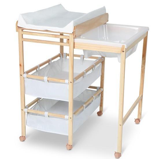 meuble langer avec baignoire et casier rangement. Black Bedroom Furniture Sets. Home Design Ideas