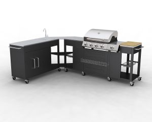 barbecue gaz inox grand meuble cuisine exterieur. Black Bedroom Furniture Sets. Home Design Ideas