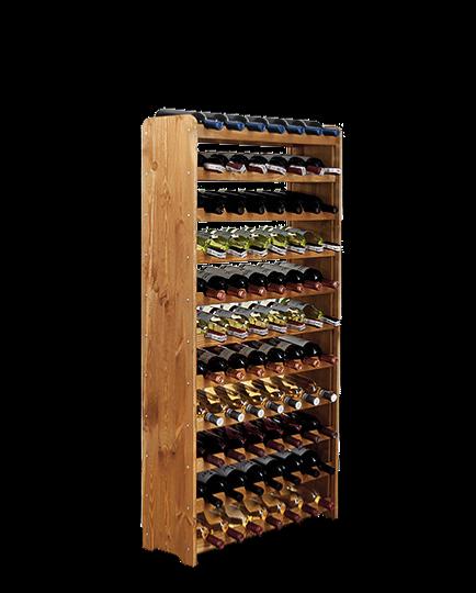 casier a vin en bois massif laqu 77 bouteilles. Black Bedroom Furniture Sets. Home Design Ideas