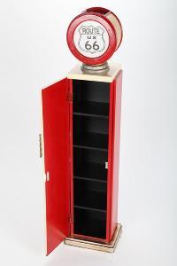 Range CD - pompe à essence avec éclairage, style américain Retro
