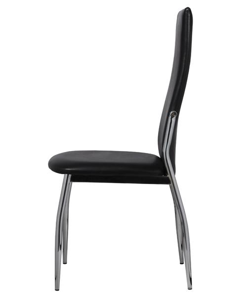 Salle manger compl te 6 chaises simili cuir blanc ou noir for 6 chaises salle a manger pivotant simili cuir