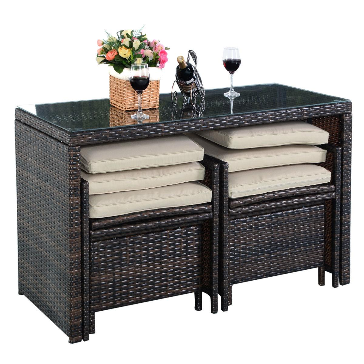 salon bar de jardin en r sine tress e 4 places. Black Bedroom Furniture Sets. Home Design Ideas