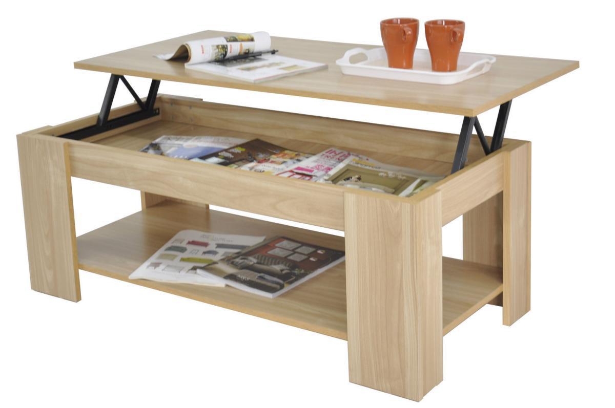 table basse 100 cm avec plateau relevable mod le galion. Black Bedroom Furniture Sets. Home Design Ideas
