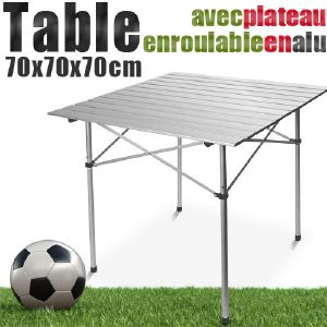 TABLE en ALUMINIUM enroulable